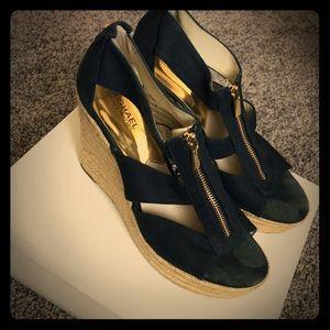Michael Kors Damita Espadrilles wedges logo shoe 9